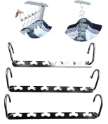 Bestwishes2u 3pcs Magic Hangers , Closet Hanger Multifunctional Metal Clothes Hanger for Space Saving and Storage