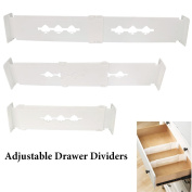 YiZYiF Adjustable Drawer Dividers Includes 2 Dividers for Home and Kitchen Office school