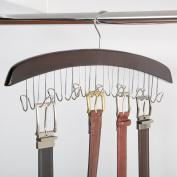 Richards Homewares Closet Accessories 12 Belt Hardwood Hanger - Dark Walnut