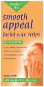 Smooth Appeal Facial Wax Strips 16's