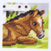 Orchidea ORC.9603 Horse In The Field Beginners Tapestry Mini-Kit 16½cm