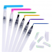 Ohuhu Water Colouring Brush Pens, Set of 6 Brush Tips for Watercolour Painting, Water Soluble Pencils, Brush Pens, Markers, Solid Colours or Powdered Pigment