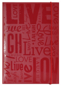 "MCS 100 Pocket Big Max Embossed ""Live Laugh Love"" Album, Red"