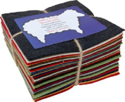 100% Wool Felt Charm Pack From National Nonwovens 90cm - 13cm Squares Homespun