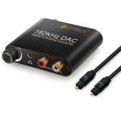 Neoteck DAC Converter 192kHz Aluminium Digital Optical Coaxial Toslink to Analogue Stereo Left/Right RCA 3.5mm Jack Audio Adapter for PS3 XBox HD DVD PS4 Sky HD Plasma Blu-ray Home Cinema Systems AV Amps