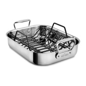 All-Clad Stainless Steel Small 36cm x 28cm Roaster with Rack