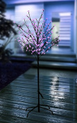 1.8m Tall Lighted Cherry Blossom LED Tree 200 Pink LED bulbs. Wonderful Home Garden Neighbourhood Decorating Wedding Birthday Christmas celebrations