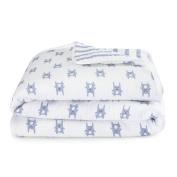 aden by aden + anais flannel dream blanket, bunny blue
