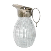 Better & Best 1511483 Glass Pitcher with gallones, with Silver Neck and Handle Oval