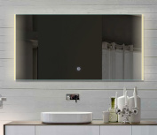 Bathroom Light Mirror Touch Switch LED Light Colour Hot/Cold HLM120X62 - 120 cm Wide