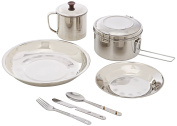 Yellowstone Steel Camping Set - Silver