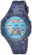 Armitron Sport Women's 45/7067SNV Digital Chronograph Navy Blue Sparkled Resin Strap Watch