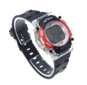 MandyColorful LED Electronic Sports Watch Red
