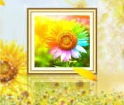 5d Cube Diamond Videos 5d diamond embroidery painting the living room full of diamond drilling new colourful sunflower,9090