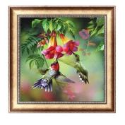 Delight eShop Flowers 5D Diamond Embroidery DIY Craft Painting Cross Stitch Mosaic Home Decor