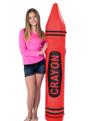 160cm Jumbo Inflatable CRAYON ASST Colours