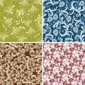FOUR 30cm x 30cm Blinggasm Vinyl Sheets Set, Flowers Pattern Outdoor Vinyl 036