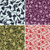 FOUR 30cm x 30cm Blinggasm Vinyl Sheets Set, Flowers Pattern Outdoor Vinyl 022
