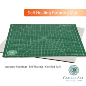 Calibre Art Rotating Self Healing Cutting Mat, Perfect for Quilting & Art Projects, 14x 14