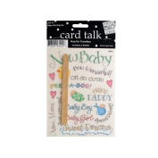 JT Scrapbooking Craft Activity Baby Girl Rub-On Transfers - 24 Pack