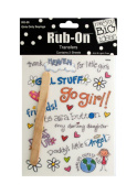JT Scrapbooking Craft Activity Girls Only Sayings Rub-On Transfers - 24 Pack