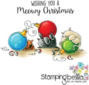 Stamping Bella Rubber Stamp - Meowy Christmas