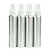 AKOAK 6 Pcs 120ml/4 Oz Aluminium Fine Mist Spray Bottles with White Pump Spray Cap,Great for Cleaning, Travel, Perfume
