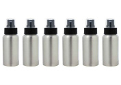 AKOAK 6 Pcs 30ml Aluminium Fine Mist Spray Bottles with Black Pump Spray Cap,Great for Cleaning, Travel, Perfume