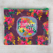 "Pack of 2 Natural Life ""kindness matters"" Recycled Zip Pouch"