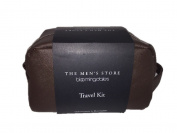 Bloomingdale's The Men's Store Genuine Leather Travel Kit in Brown