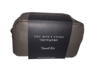 Bloomingdale's The Men's Store Genuine Leather Travel Kit in Charcoal Grey