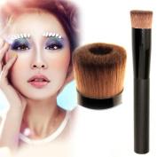 HuntGold Professional Cosmetic Face Liquid Powder Foundation Concave Makeup Brush Black