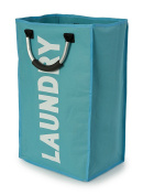 Light Blue Laundry Bag with Handles