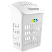 CrazyGadget® Large 60L 60 Litre Laundry Hamper Basket Cloth Washing Storage Bin with Lid - White