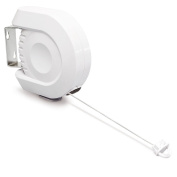 Large 15M Single Retractable Clothes Washing Line Dryer Indoor Garden Wall Mounted Outdoor Reel
