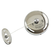Kictero Stainless Steel Retractable Clothesline 2.5m Adjustable Fibre String Line Washing Lines