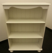 Steens Richmond White Small Bookcase 2 Adjustable Shelves & Real T & G Back