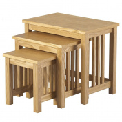 Vida Designs Ashmore Nest of Tables, Wood, Ash