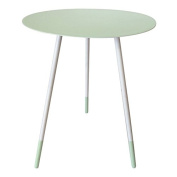 Bombay Duck BDF302G Large Round Enamel Side Table, Pistachio