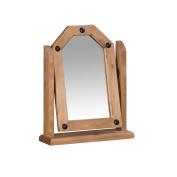 Mercers Furniture Corona Single Mirror, Wood, Antique Wax