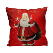 Decorie Happy Christmas Festival Sofa Bed Home Decoration Pillow Case Cover