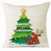 OverDose Home Decoration Christmas Tree Pillow Case Cushion Cover