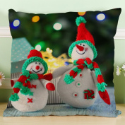 OverDose Home Decoration Christmas Snowman Pillow Case Cushion Cover