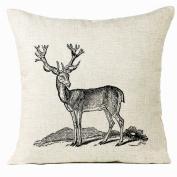 OverDose Home Decoration Xmas Elk Pillow Case Cushion Cover