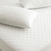 Great Knot Superior Range , Quilted , Pillow Protector Pair in 180 Thread Count Percale - White