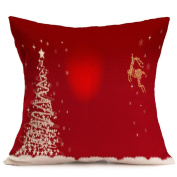 Christmas Pillow Case, Eenkula 2016 New Party Lovely Sofa Bed Home Decoration Festival Pillow Case Square Cushion Cover 45cm *45cm