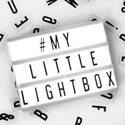 Locomocean A5 Light Up Your Life Cinematic Lightbox, Plastic, Black and White