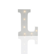 Light Up Letters - Warm White LEDs - Battery Operated - 16cm by Festive Lights