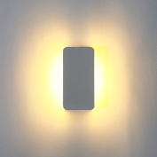 LED Wall Lights, Amzdeal® Indoor Lighting 6W Aluminium Adjustable Visor LED Night Lights for Hallway, Pathway, Staircase ,Living room,bedroom etc.