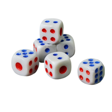 10pcs/Set Opaque Six Sided Spot Dice Games Party RPG Playing Set Party Favour